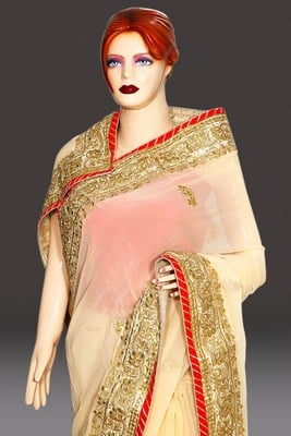 Wedding and Engagement Party Jaipuri Gota Patti Saree