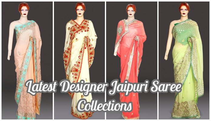 Latest Designer Jaipuri Saree Collections - Rajasthani Gota Work Saree India