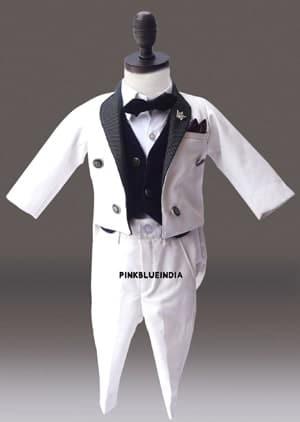 Boys Formal Tailcoat Suit, Child tuxedo jacket tails, Baby Boy Wedding Suit