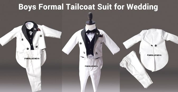 Boys 5 Piece Tailcoat Suit, boys suits for wedding