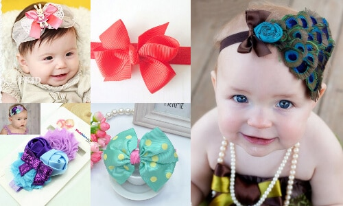 Buy Colorful, Party baby Headband Bows - Cute Baby Headbands