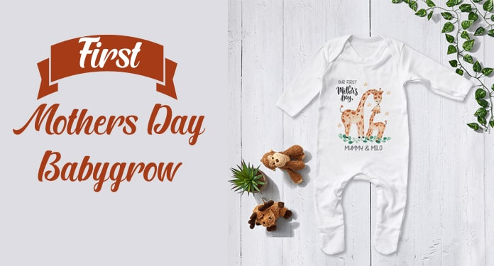 happy first mothers day baby grow