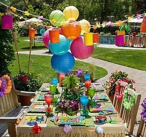 Hawaiian theme Party ideas baby