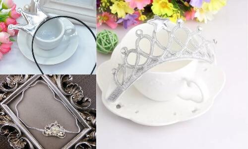 Baby Girl Silver Birthday Princess Crown Headbands