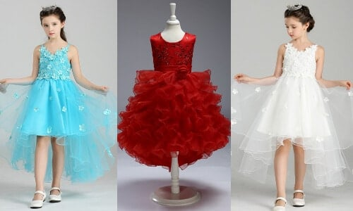 New Stylish Designs of Party Wear Baby Frocks, Gowns Online