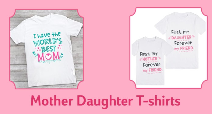 Personalized Mother and Daughter T-shirt