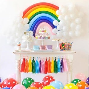 1 Year Baby Rainbows Birthday Party