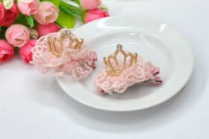 1st Birthday Princess Tiara Headband, first birthday crown girl