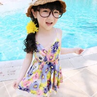 Baby Girl Floral Print Summer Dress Under rs 500