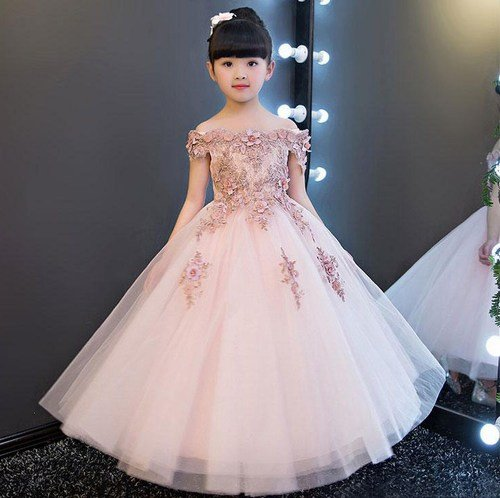 Designer children Evening Dresses, Baby Girl Evening Wedding Party gowns