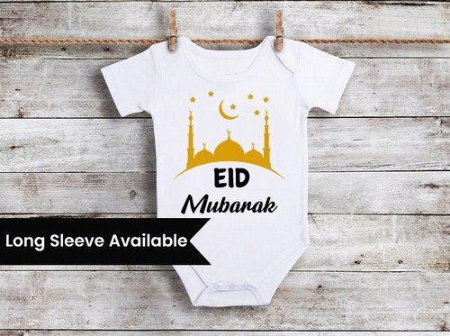 Eid Mubarak Baby Onesie, Eid Mubarak Bodysuit