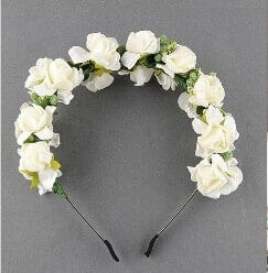 Flower Girl Tiara Headband, Toddlers Girl White color Tiara Headbands