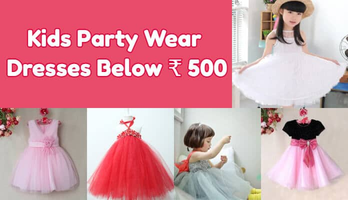 Baby Girl party dresses Below 500, kids party wear baby frock online India
