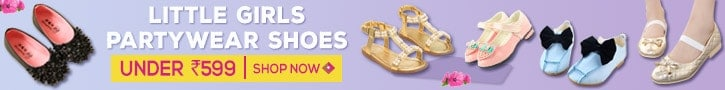 Baby Girl party wear booties, shoes, footwear sale india