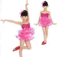 Little Princess Hot Pink Dance Costume 500