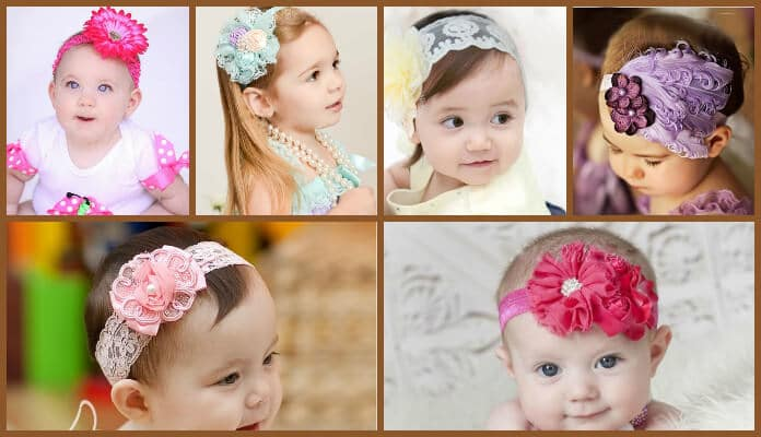 newborn baby safely wear headbands, Baby girl hair bands