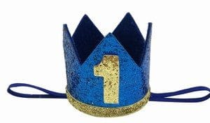 1st Birthday Boy Prince Party Crown Hat, Personalized birthday crown india