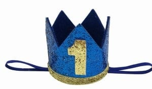 1st Birthday Boy Prince Party Crown Hat Personalized India