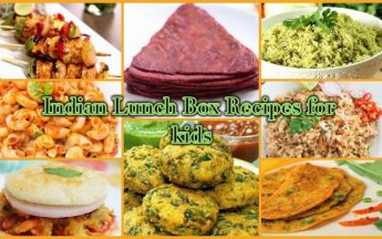 Indian Lunch Box Recipes for 3 to 5 year old Kids