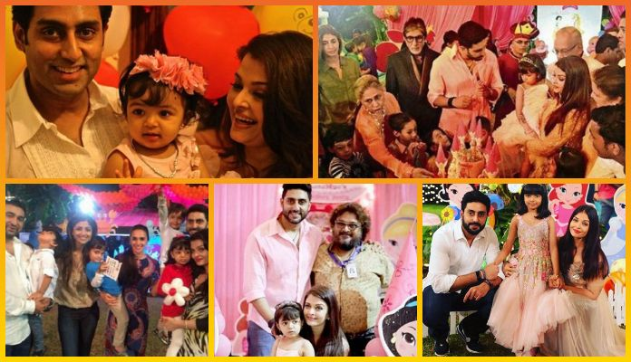Aishwarya's Daughter Aaradhya Bachchan's 1st to 6th Birthday Party Dresses