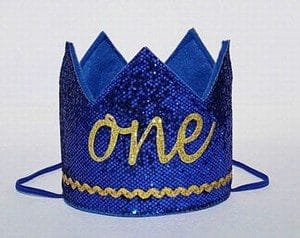 Baby Boy King Crown Hat, Personalized Birthday Party King crown