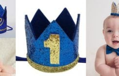 Royal Personalized Prince or King Birthday Crown | Boys Party Crown Hats