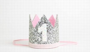 Custom Made Baby Girl Silver Crown Headband Princess Crown