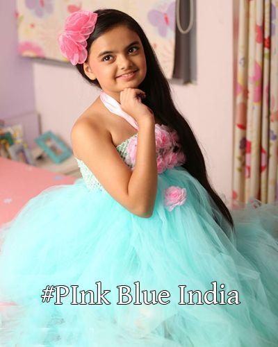 Child Celebrity Ruhanika Dhawan Tutu Dress, T.V. actress Ruhanika Dhawan Dresses by PinkBlueIndia