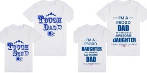 buy Fathers Day Matching Father, Son, Daughter T-shirts Online India
