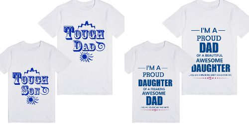 16d04eff7 buy Fathers Day Matching Father, Son, Daughter T-shirts Online India