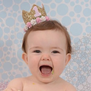 Buy 1st Birthday Girl Crown Headband Online India, First birthday crown
