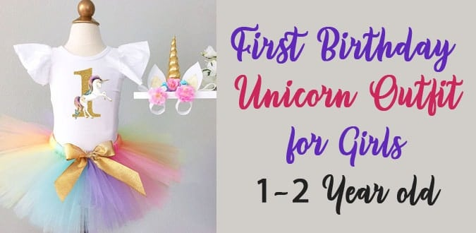 Unicorn First Birthday Outfit Unicorn Dress 1 to 2 Year old Girl