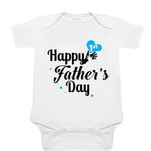 customized First Father's Day Romper, 1st Father's Day Onesies Boy Online India