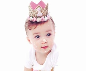 Baby Girls Infant 1st Birthday Crown Headband, first birthday princess crown hat India