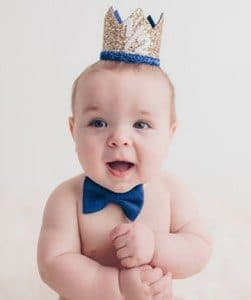 1/2 Birthday Boy Crown, Baby Boy Half Birthday Crown Hat India