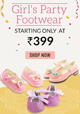 baby girl party footwear, little girl booties, shoes online India