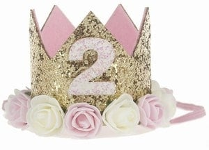 Personalized Princess Flower girl Crown hat, Princess crown Birthday hat, Queen Crown