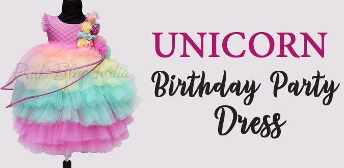 Unicorn Birthday Party Dress Unicorn Gown