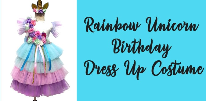 Rainbow Unicorn Birthday Dress Up Costume in India