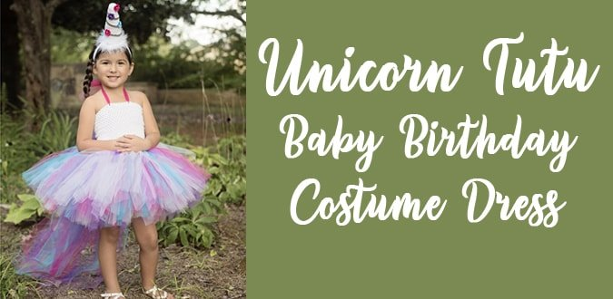 Unicorn Baby Birthday Tutu Costume Dress, Unicorn Tutu Dress India