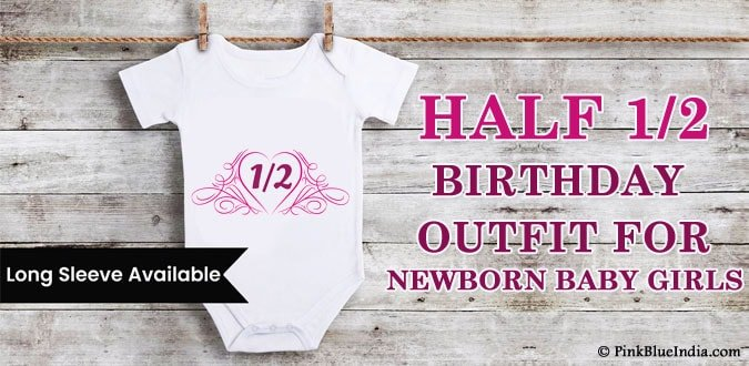 Newborn Baby Girl 1/2 In Heart Half Birthday Outfit India