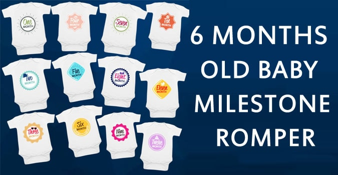 6 Months Personalized Baby Milestone Romper