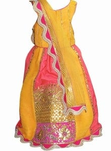 Radha Lehenga Choli Kids Fancy Dress Costume for Girls