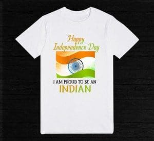PROUD INDIAN Independence Day T-Shirt Online for Kids