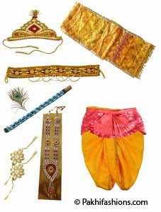 Little Krishna Costume Accessories Janmashtami
