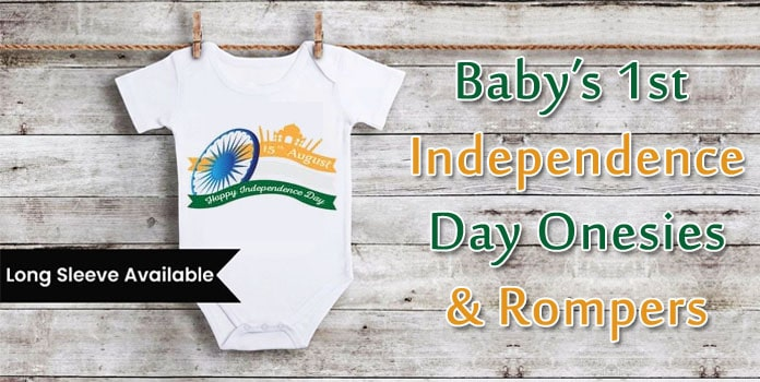1st Independence Day Onesies, Baby Rompers India