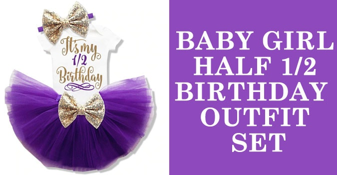 Baby Girl 1/2 Birthday Clothes - Half Birthday Outfit