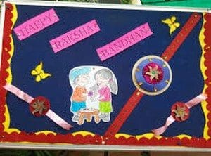 School Board Decoration for Raksha Bandhan