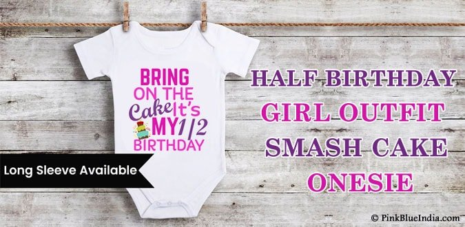 Half Birthday Girl Outfit, Smash Cake Onesie