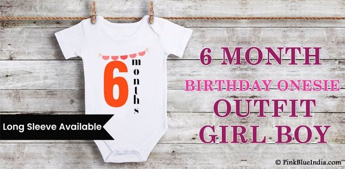 6 month Birthday Onesie – Half Birthday Outfit Girl Boy